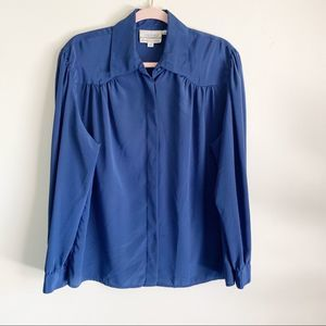 Vintage 80\u2019s abstract peters and Ashley blouse size 14